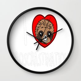 I heart procrastination Wall Clock
