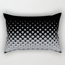 Grey Ball Background Rectangular Pillow