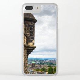 View of Edinburgh, Scotland from Edinburgh Castle Clear iPhone Case