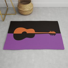 Acoustic Guitar Jazz Rock n Roll Classical Music Mid Century Modern Minimalist Abstract Geometrical Rug