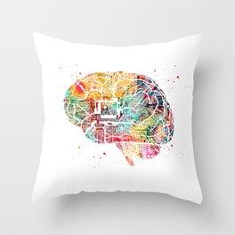 Circuit Brain Throw Pillow