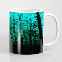 teal Mugs featuring Teal  by 2sweet4words Designs