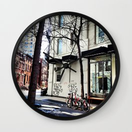 Bike in the West Village Wall Clock