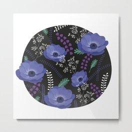 Anemones I: cold in circle Metal Print