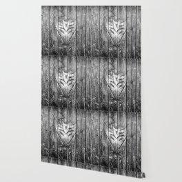 Decepticon Monochrome Wood Texture Wallpaper