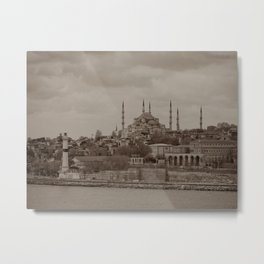 "Sultan Ahmed Mosque (""Blue Mosque"", Istanbul, TURKEY) from Bosphorus Strait Metal Print"