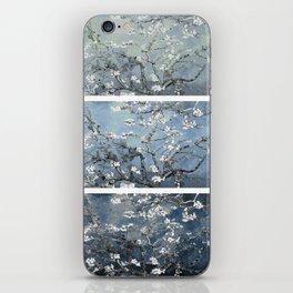 Vincent Van Gogh : Almond Blossoms Panel Art Blue Steel Teal iPhone Skin