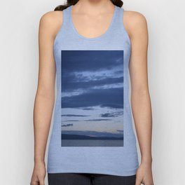 Vermont evening  sky over lake champlain  I Unisex Tank Top