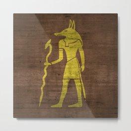 Gold Foil Egypcian God Metal Print
