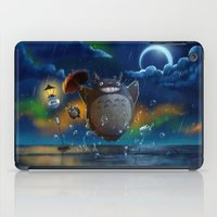 studio ghibli iPad Cases featuring Studio Ghibli: My Neighbour Totoros by Laurence Andrew Page Illustrator