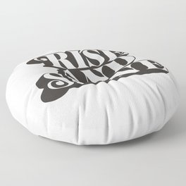Rise and Shine motivational typography in black and white home wall decor Floor Pillow