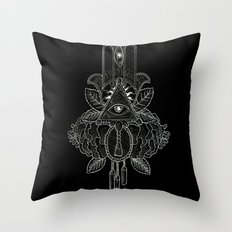 Psalms and Mischief Throw Pillow
