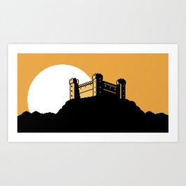 The Ancient Castle of Dusk Heights Art Print