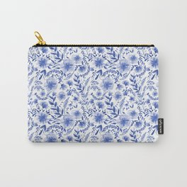 Blue China Flowers & Vines Carry-All Pouch