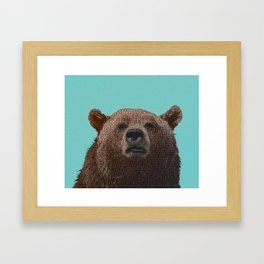 literary bear Framed Art Print