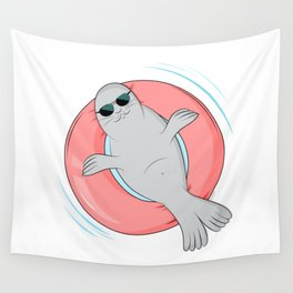 Tanning seal Wall Tapestry