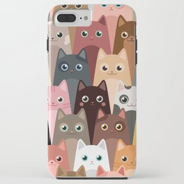 Cats Pattern iPhone Case