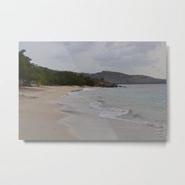 St. Croix: Beach View Metal Print
