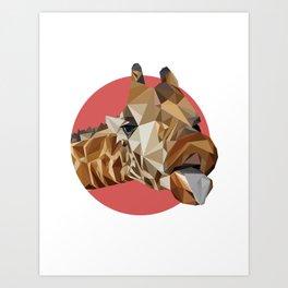 girafraide of triangles, aren't you? Art Print