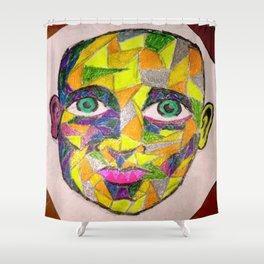 Mosaic Man  Shower Curtain