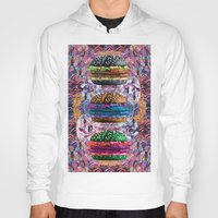 holographic Hoodies featuring black burger doom zone by STORMYMADE