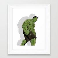 hulk Framed Art Prints featuring Hulk by  Steve Wade ( Swade)