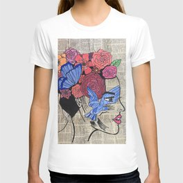 Whimsical News Girl T-shirt