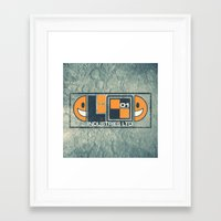 lunar Framed Art Prints featuring Lunar by Fanboy30