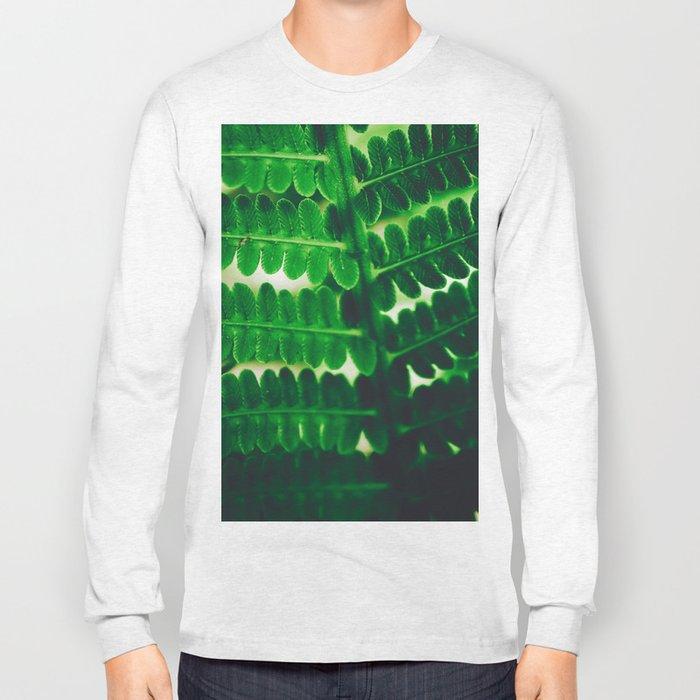 Electric Green Fern Long Sleeve T-shirt