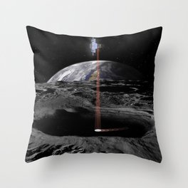 1954. Lunar Flashlight Throw Pillow