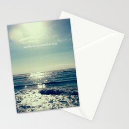 and the waves carried her away Stationery Cards