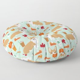 Corgi - Pumpkin Spice, psl, coffee, latte, pumpkin pie,  fall, autumn, holiday, Floor Pillow