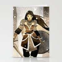 warrior Stationery Cards featuring Warrior by Pauliina Hannuniemi
