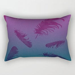 Falling Feathers Rectangular Pillow