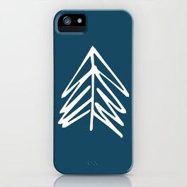 Pacific Northwest Evergreen   In Indigo iPhone Case
