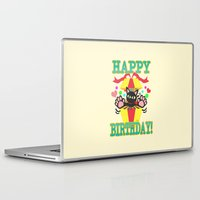 happy birthday Laptop & iPad Skins featuring Happy Birthday! by BATKEI