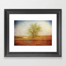 Lonely tree.I Framed Art Print