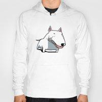 bull terrier Hoodies featuring Bull Terrier by Jaume Tenes