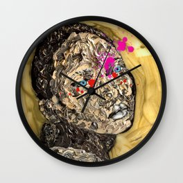 Blood Gold Girl Wall Clock