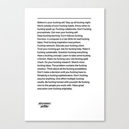Fucking Inspiration Quote Canvas Print