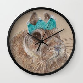 Chester bunny and his crown Wall Clock
