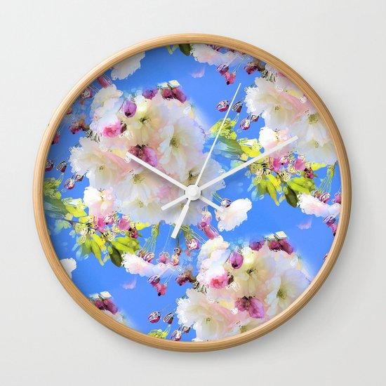 Cherry Blossom Girl Wall Clock