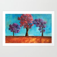 The three trees Art Print