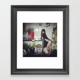 Hattie Freezer Framed Art Print