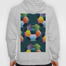 Colorful Soccer Ball Hoody