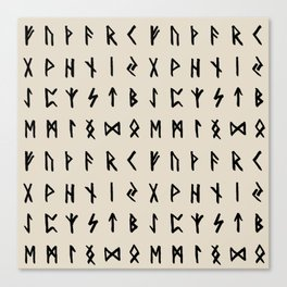 Nordic Runes // Whale Bone Canvas Print