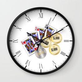 Gambling Wall Clock