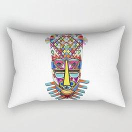 AFRICAN METEORO MASK . HADN MADE WOOD Rectangular Pillow