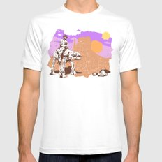 Walker Tejas Ranger White Mens Fitted Tee SMALL