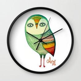 Fancy Feathers Wall Clock
